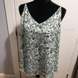Green floral tunic XL